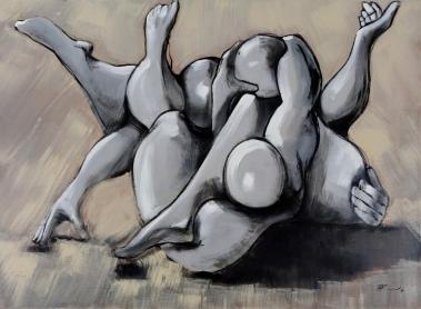 73 x 100, acrylique sur toile, 2010