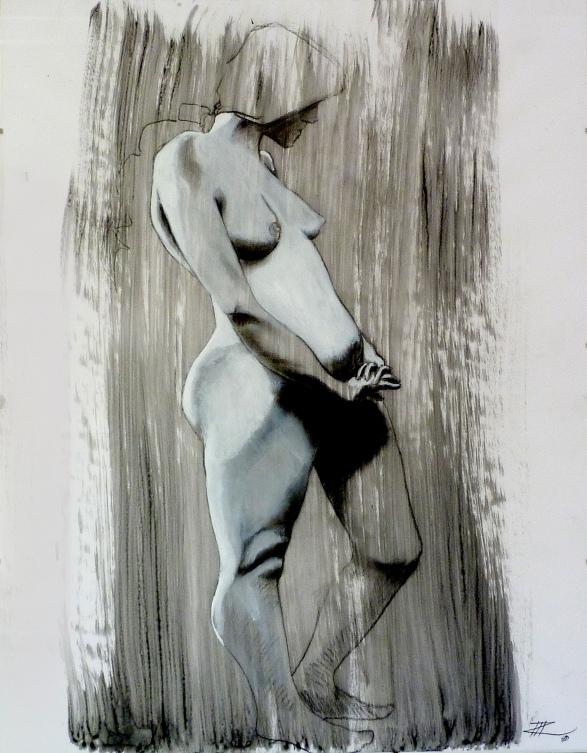 71 x 50, graphite sur encre, 2013