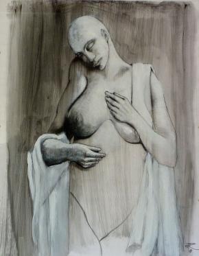 72 x 50, graphite sur encre, 2013