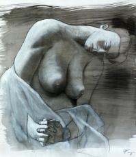 75 x 50, graphite sur encre, 2013
