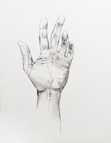 50 x 65, mine de plomb sur papier, 2015