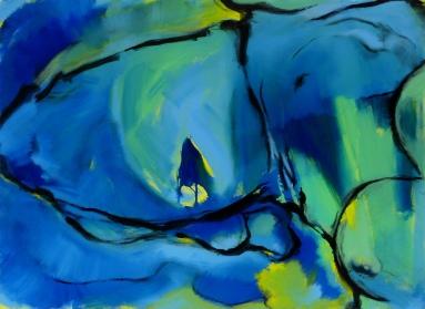 100 x 73, acrylique sur toile, 2007