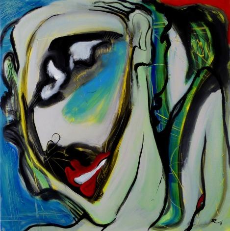 100 x 100, acrylique sur toile, 2015