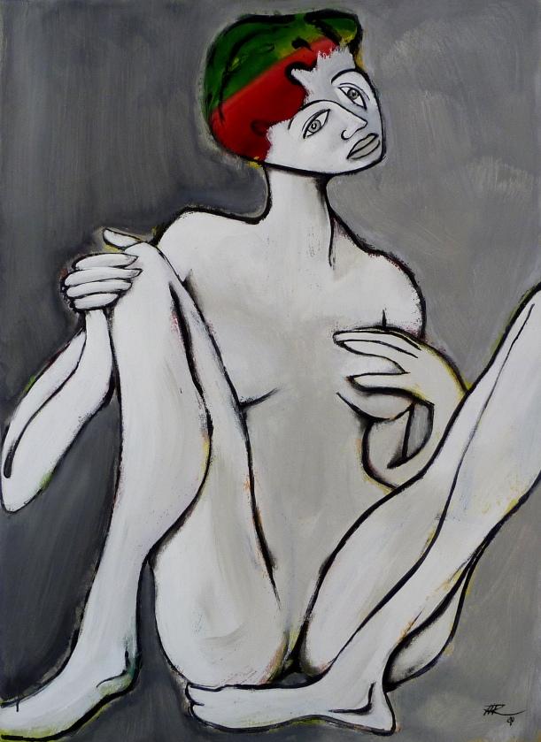 100 x 73, acrylique sur toile, 2010