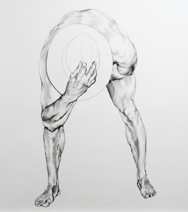 180 x 150, graphite et pierre noire sur papier, 2015