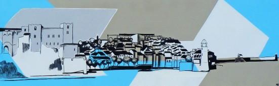 50x150, acrylique sur toile, 2017